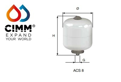 ACS/AFE -Vertical   8 Litre 10 BAR