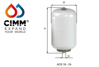 "ACS/AFE -Vertical   24 Litre 3/4"" 10 BAR"